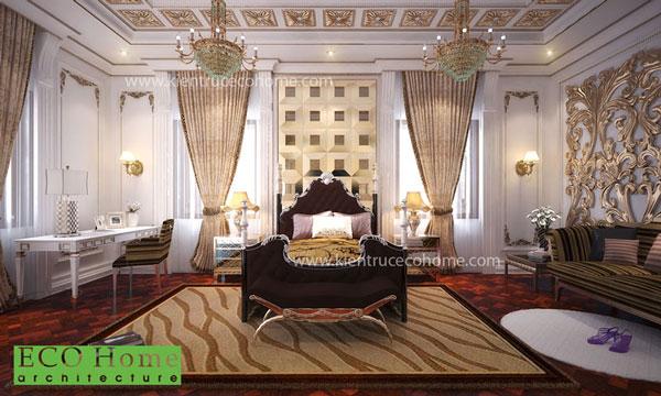 Thiết kế nội thất phòng ngủ cổ điển