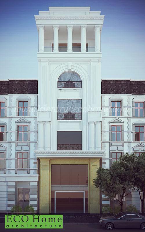 thiết kế nhà phố kiến trúc pháp