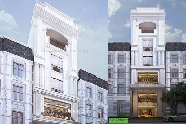Thiết kế nhà phố theo kiến trúc Pháp