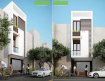Thiết kế nhà phố 3 tầng
